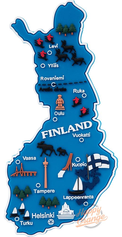Suomen Kartta Kumimagneetti Marakatti