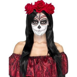 Punainen Day of the Dead-tyylinen  ruusupanta.