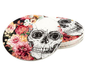 Day Of The Dead lasinalunen 6 kpl, 10 cm